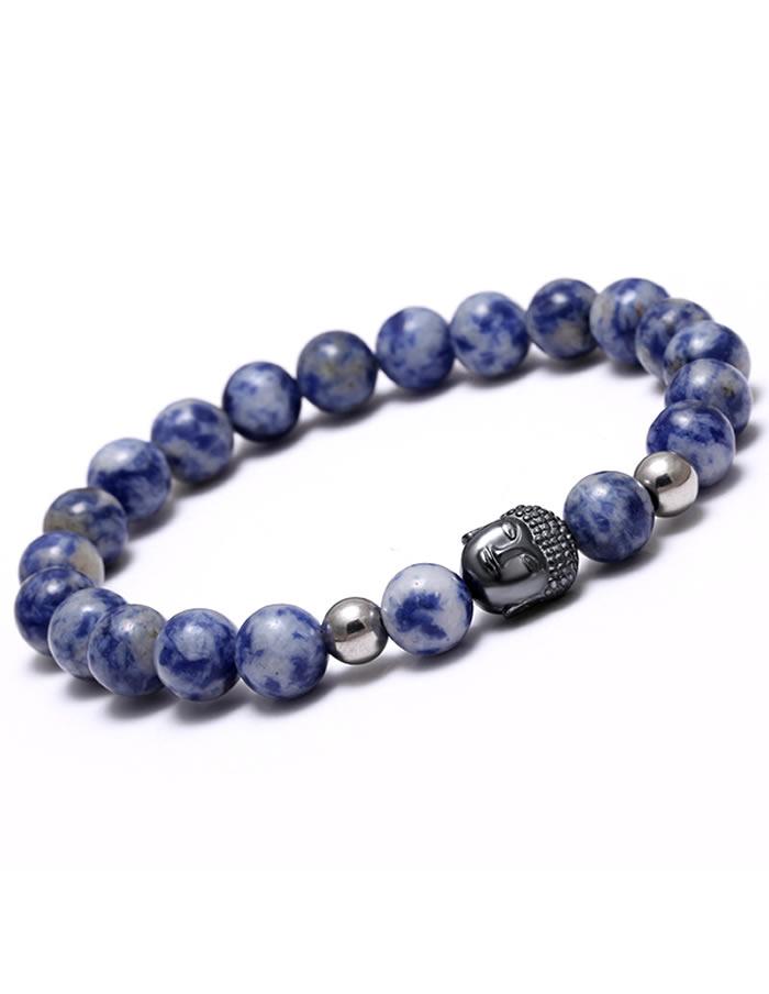 Sodalite Buddha Head Bracelet